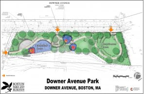 Rendering of finished design for Downer Ave Playground